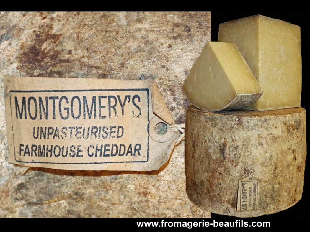 Montgomery's Cheddar. Fromagerie Beaufils.