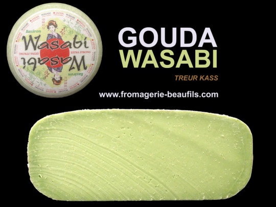 Gouda au wasabi. Fromagerie Beaufils.