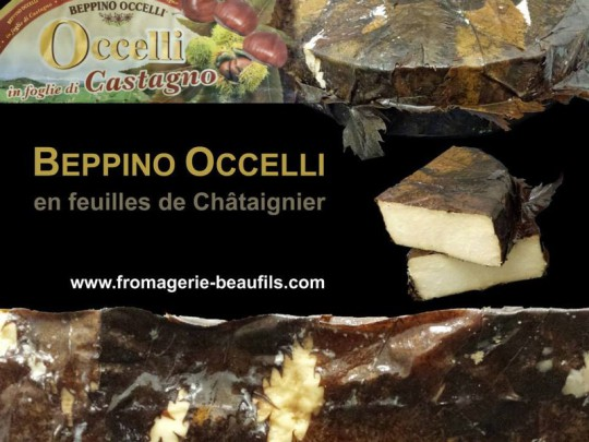 Beppino Occelli Feuilles de Châtaignier. Fromagerie Beaufils.