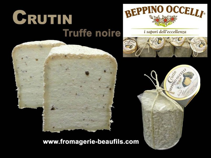 Beppino Occelli. Crutin al Tartufo. Fromage à la truffe. Fromagerie Beaufils.