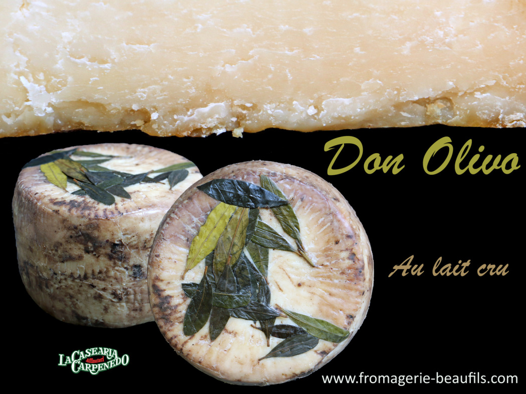 Don Olivo. Fromage italien. Fromage à l'huile d'olive. Fromagerie Beaufils.