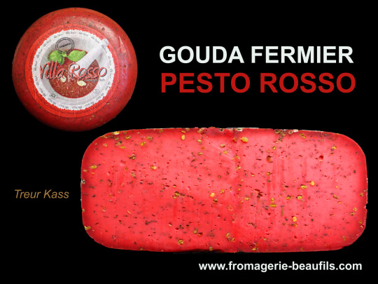 Gouda Pesto Rosso. Fromagerie Beaufils.