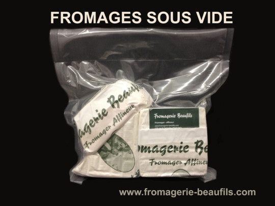 Fromages sous vide. Fromagerie Beaufils.