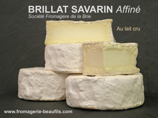 Brillat-Savarin affiné. Fromage de vache. Fromagerie Beaufils.