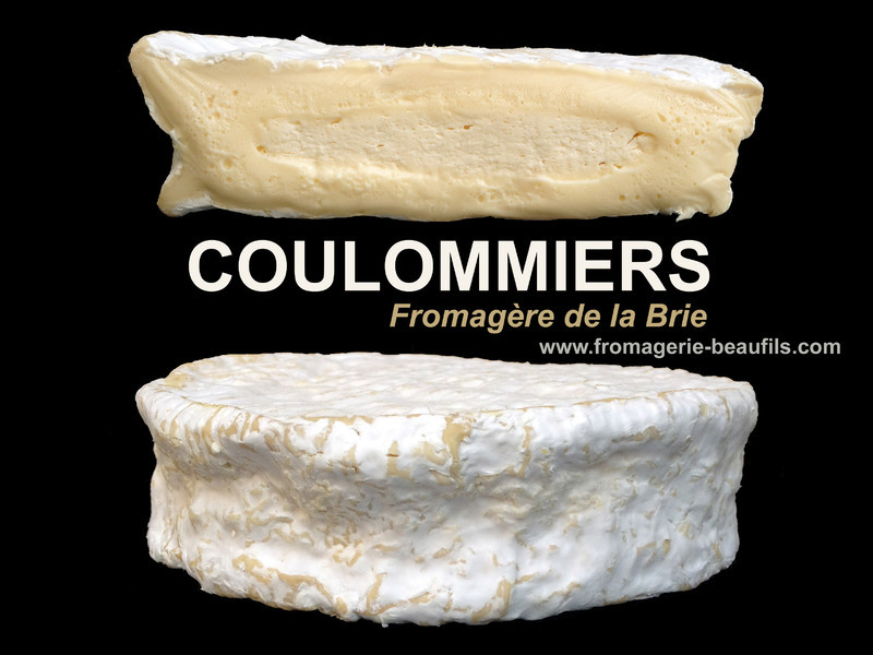 Coulommiers. Fromage de vache. Fromagerie Beaufils.