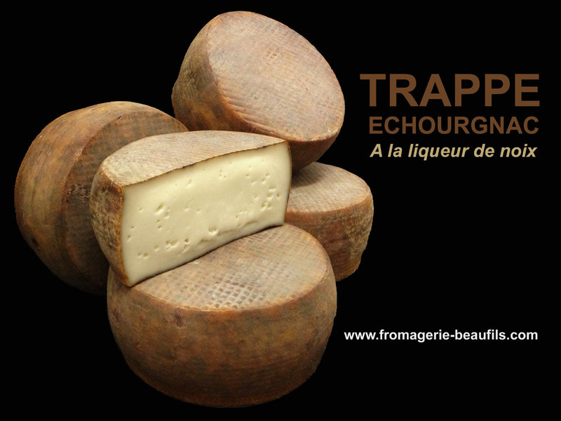 Trappe Echourgnac. Fromage de vache. Fromagerie Beaufils.