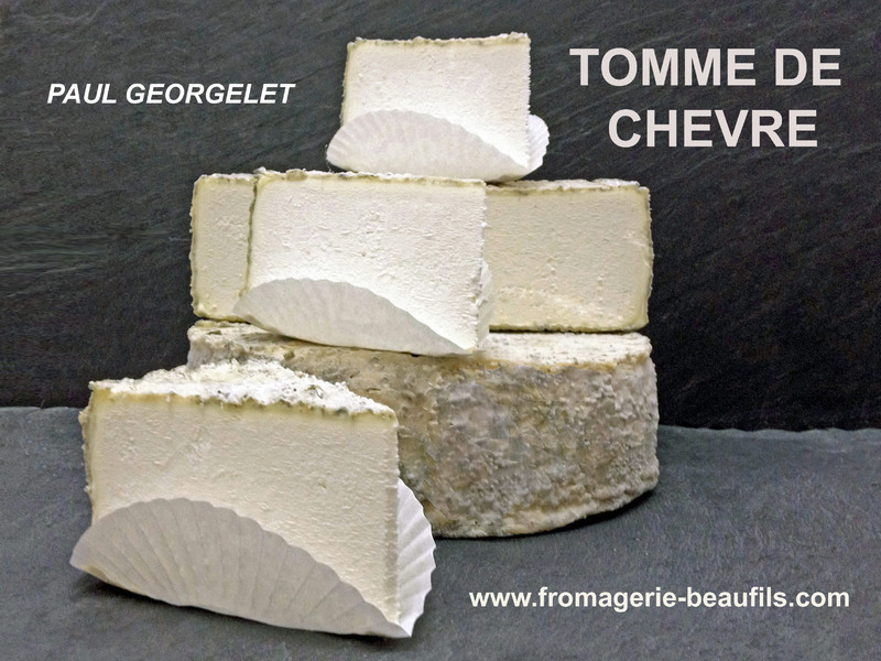 Tomme Georgelet. Fromage de chèvre. Fromagerie Beaufils.