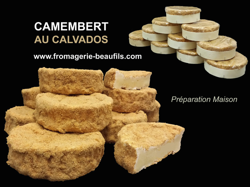 Camembert au calvados. Fromagerie Beaufils.
