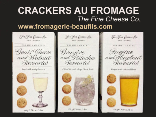 Crackers au fromage. The Fine Cheese. Fromagerie Beaufils.