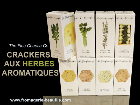 Crackers aux herbes. The Fine Cheese. Fromagerie Beaufils.
