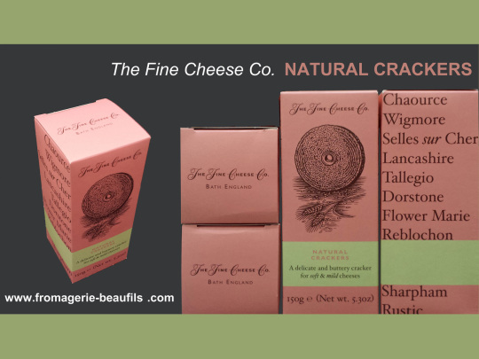 Crackers nature. The Fine Cheese. Fromagerie Beaufils.