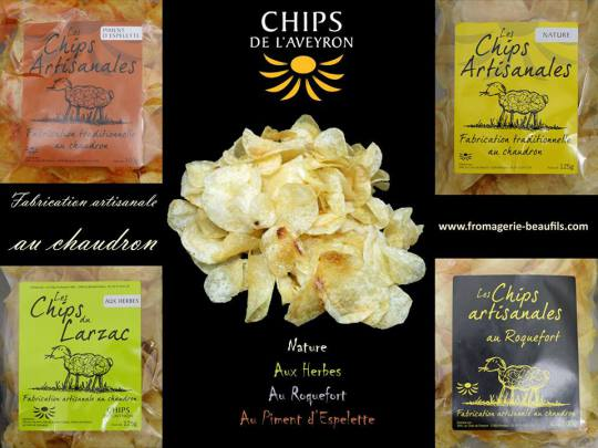 Chips. Fromagerie Beaufils.
