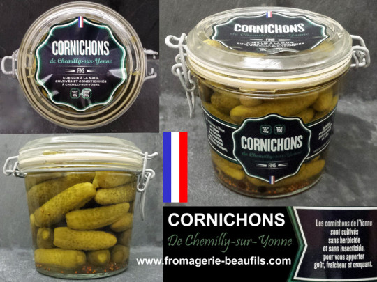 Cornichons. Fromagerie Beaufils.