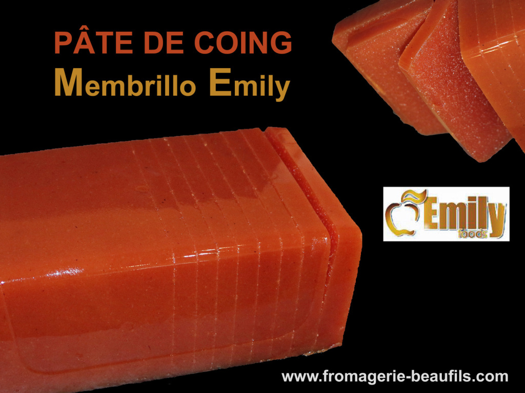 Pâte de coing. Membrillo Emilly. Fromagerie Beaufils.