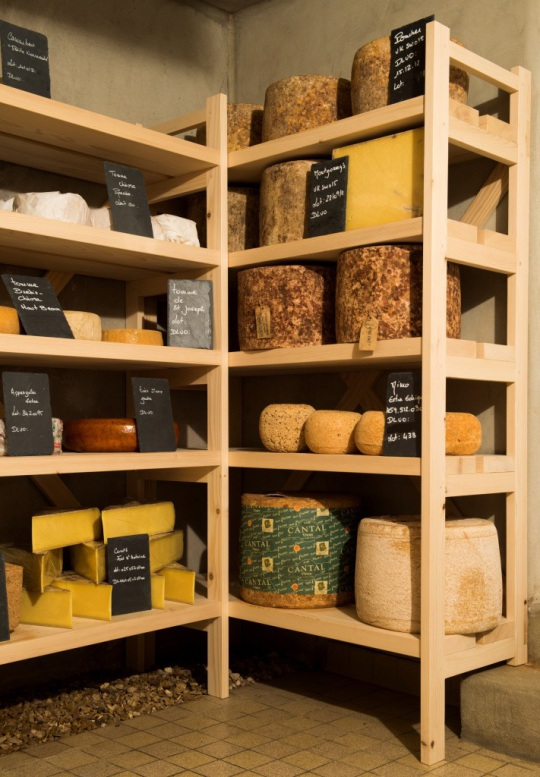Caves d'affinage. Fromagerie Beaufils.