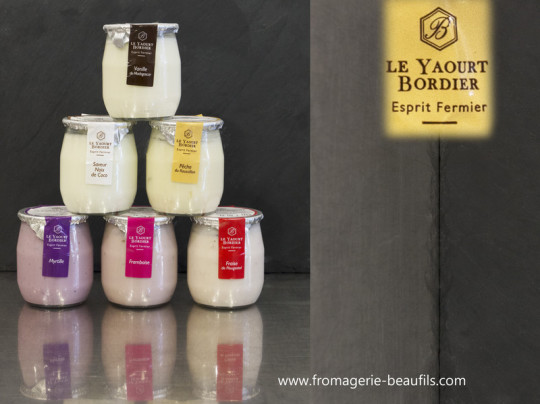 Yaourts Bordier. Fromagerie Beaufils.