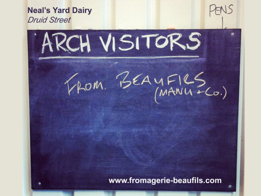 Fromages anglais. Neal's Yard Dairy.Fromagerie Beaufils.